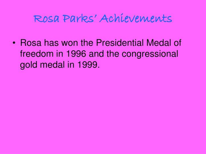 Rosa Parks' Achievements