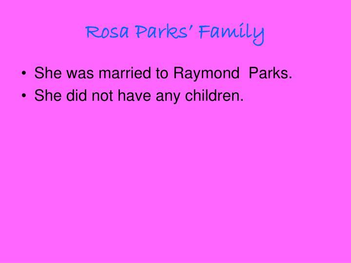Rosa Parks' Family