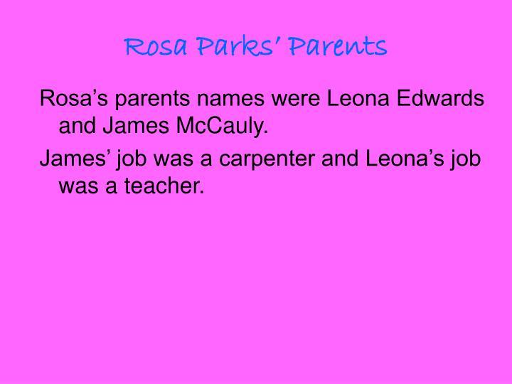 Rosa Parks' Parents