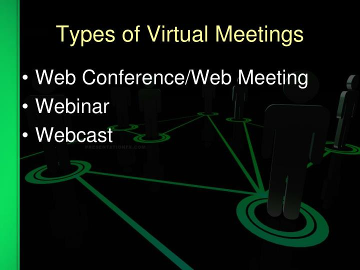Types of Virtual Meetings