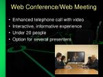 web conference web meeting