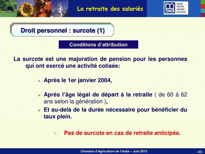 La retraite des salariés