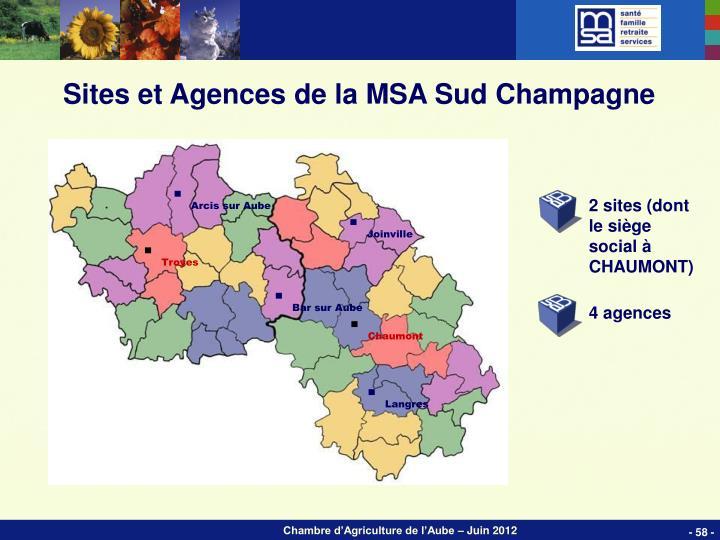 Sites et Agences de la MSA Sud Champagne