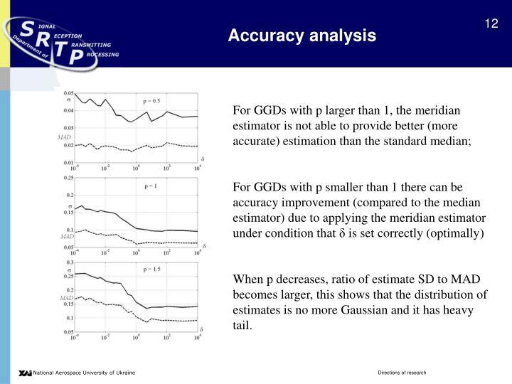 Accuracy analysis