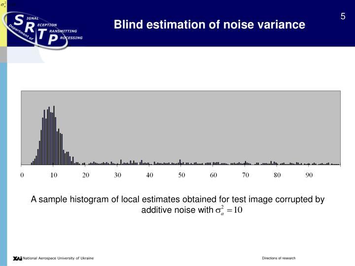 Blind estimation of noise variance