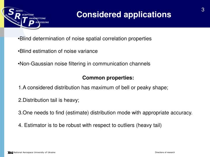 Considered applications