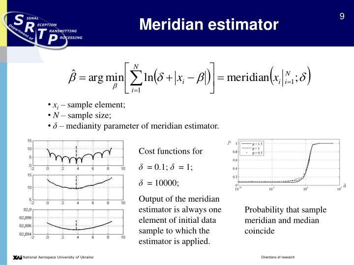 Meridian estimator