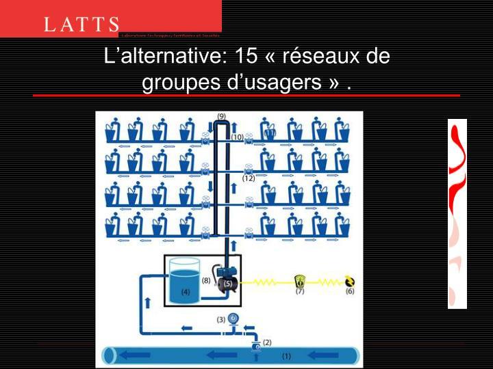 L'alternative: 15 «réseaux de groupesd'usagers » .