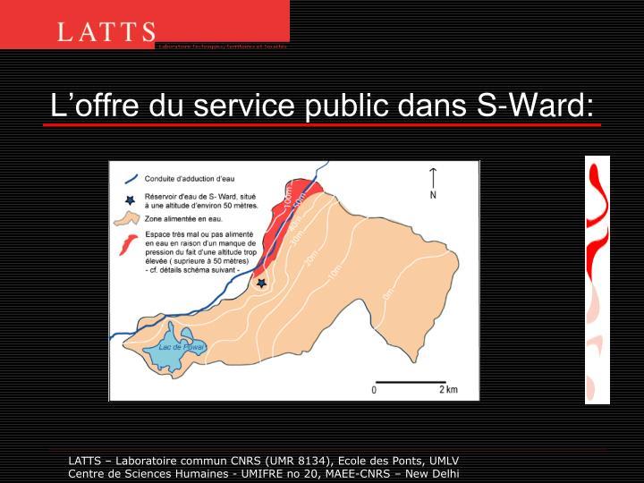 L'offre du service public dans S-Ward: