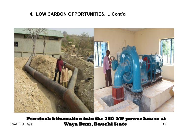 Penstock bifurcation into the 150  kW power house at Waya Dam, Bauchi State