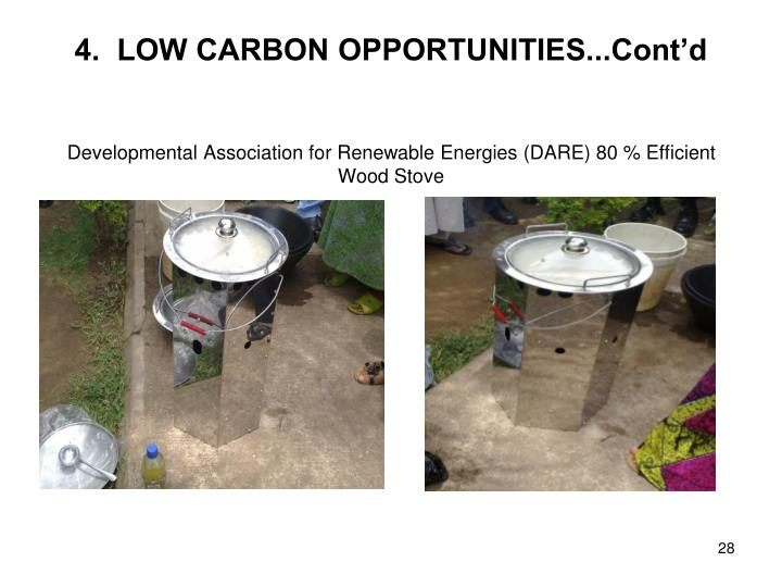 4.  LOW CARBON OPPORTUNITIES...Cont'd
