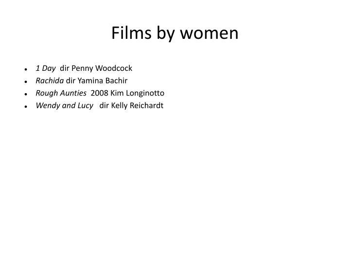 Films by women
