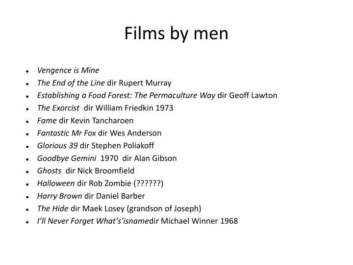 Films by men