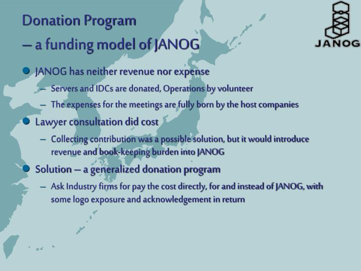 Donation Program