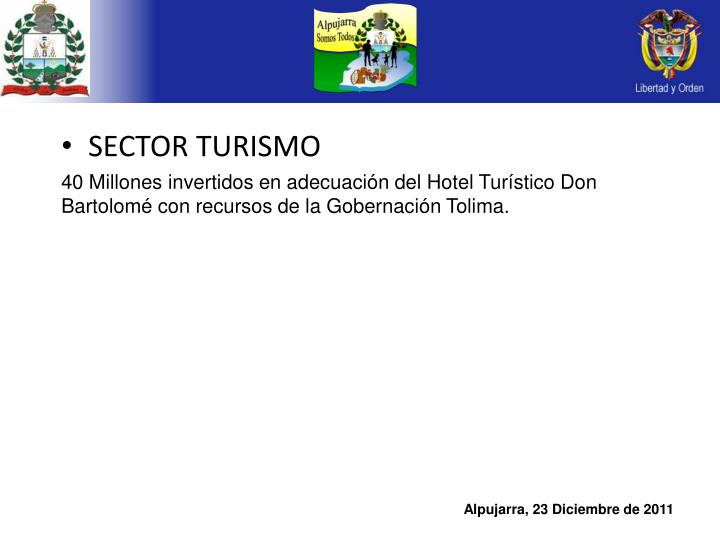 SECTOR TURISMO