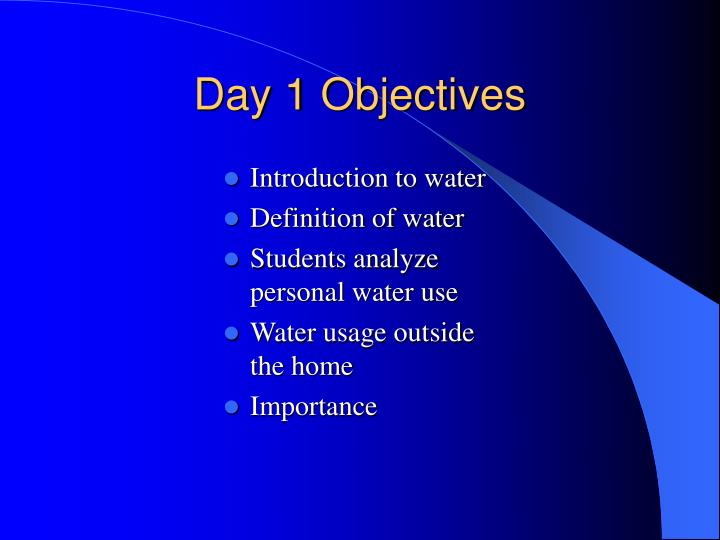 Introduction to water