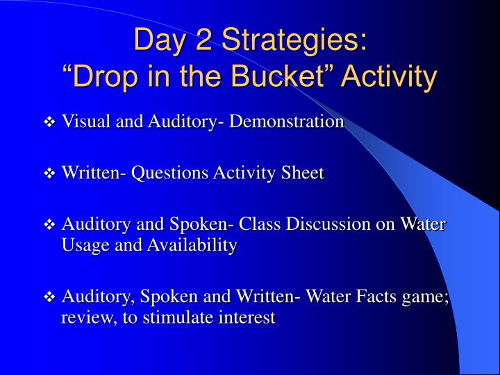 Day 2 Strategies: