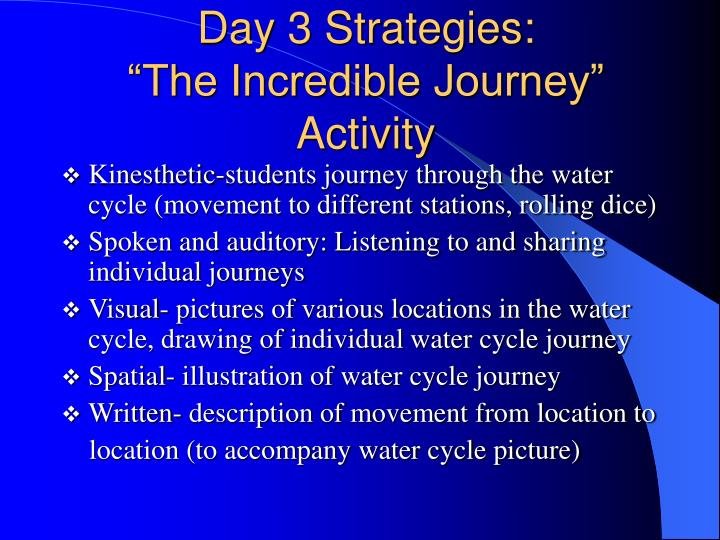 Day 3 Strategies: