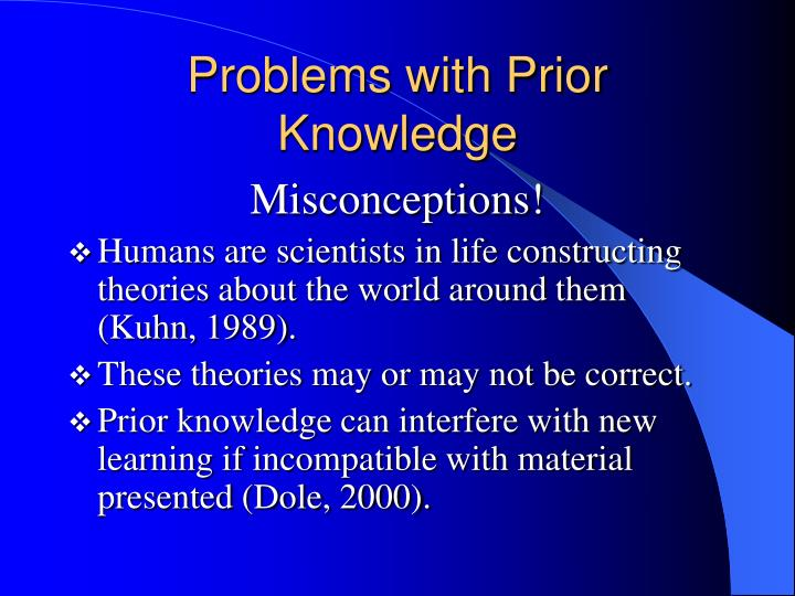 Problems with prior knowledge