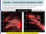 results a more realistic impedance model