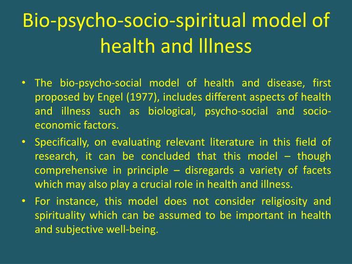 Bio-psycho-socio-spiritual model of health and lllness