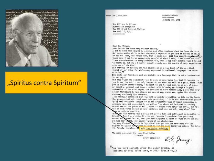 """""""Spiritus contra Spiritum"""""""