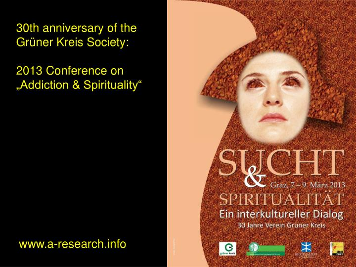 30th anniversary of the Grüner Kreis Society: