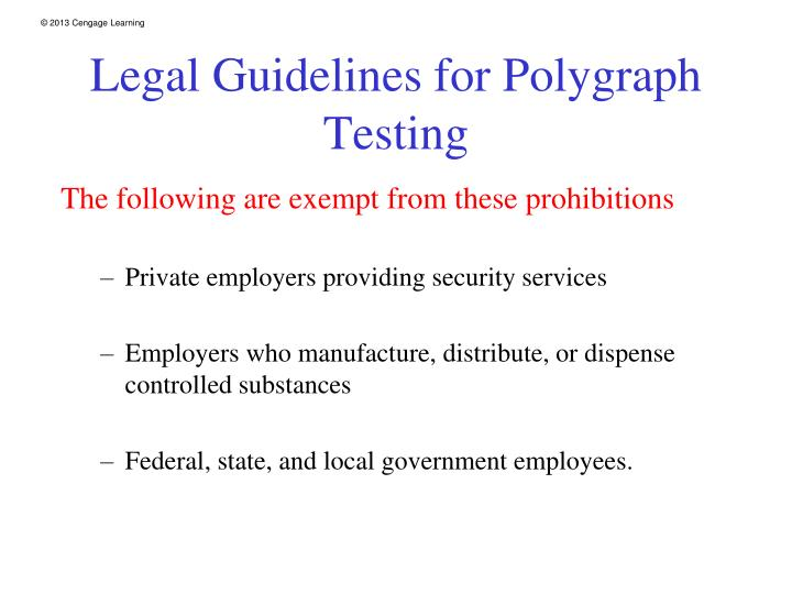 Legal Guidelines for Polygraph Testing