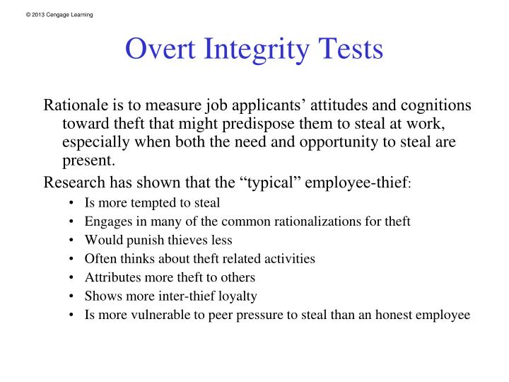 Overt Integrity Tests