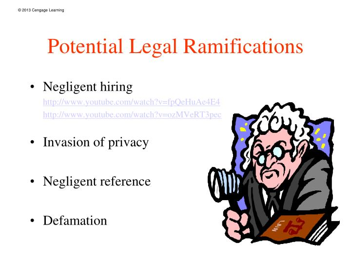 Potential Legal Ramifications
