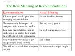 the real meaning of recommendations1