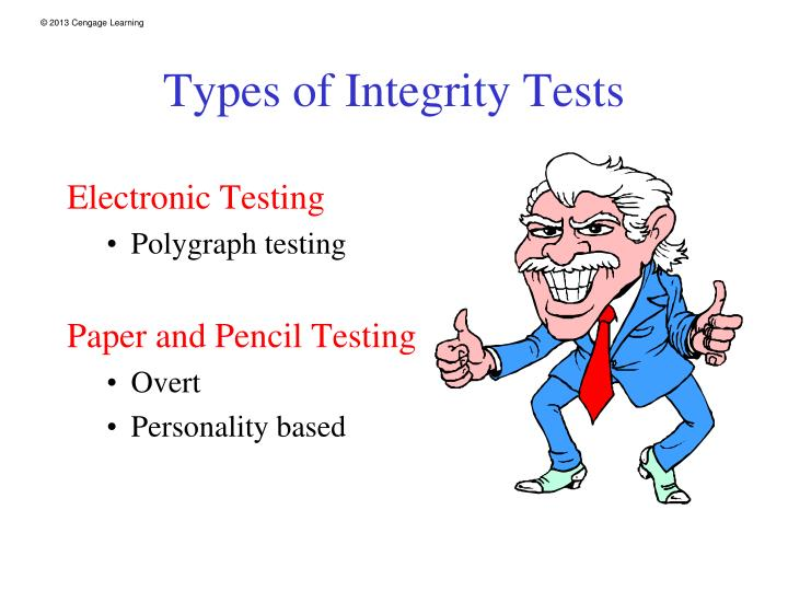 Types of Integrity Tests