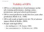 validity of gpa
