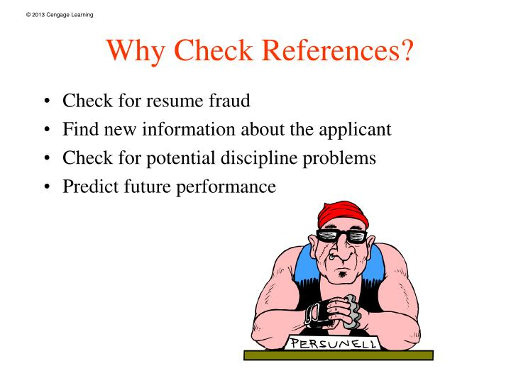Why check references