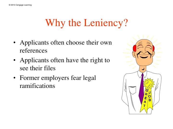 Why the Leniency?