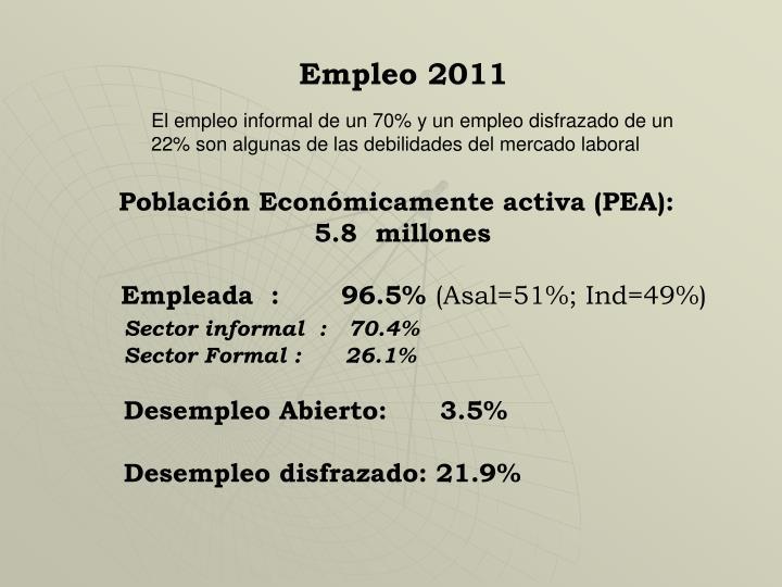 Empleo 2011