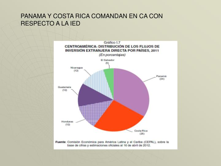 PANAMA Y COSTA RICA COMANDAN EN CA CON RESPECTO A LA IED