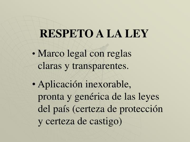 RESPETO A LA LEY