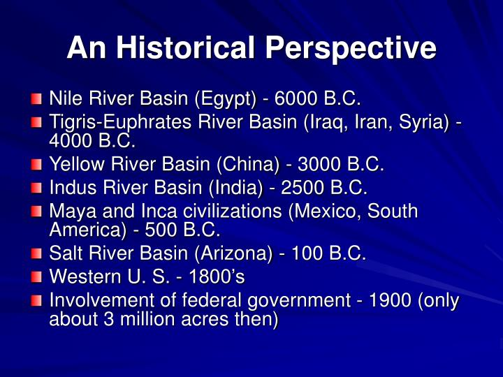 An Historical Perspective