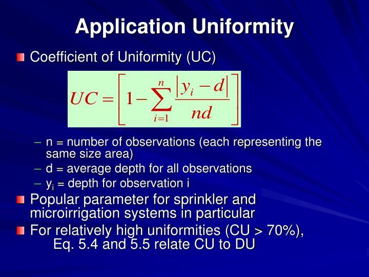 Application Uniformity