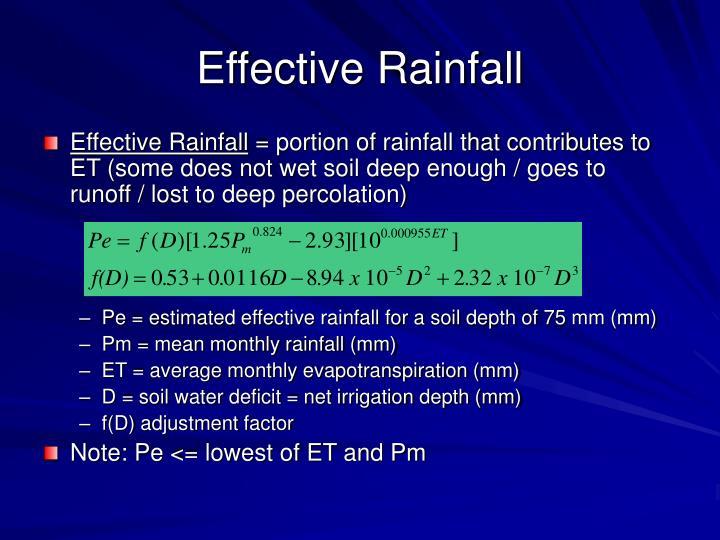 Effective Rainfall