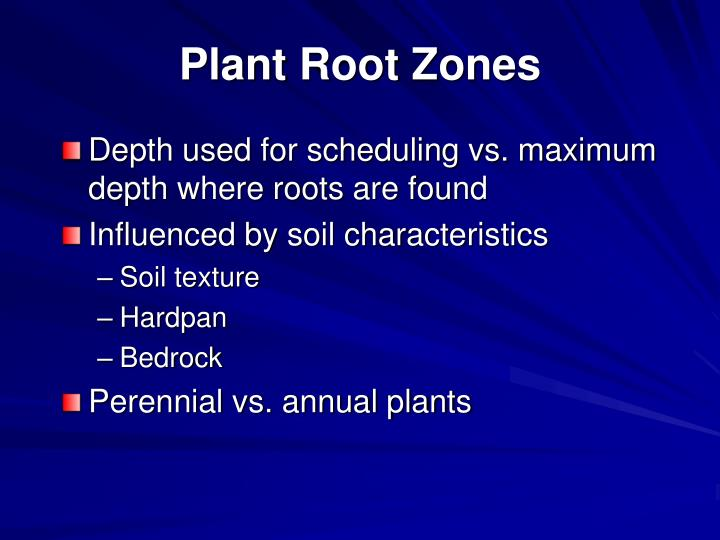 Plant Root Zones