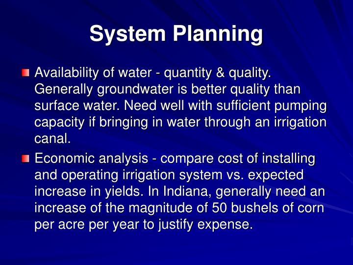 System Planning