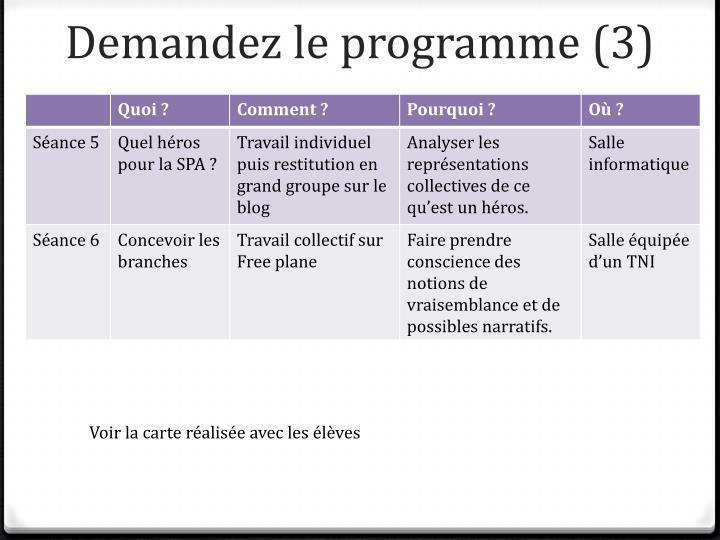 Demandez le programme (3)