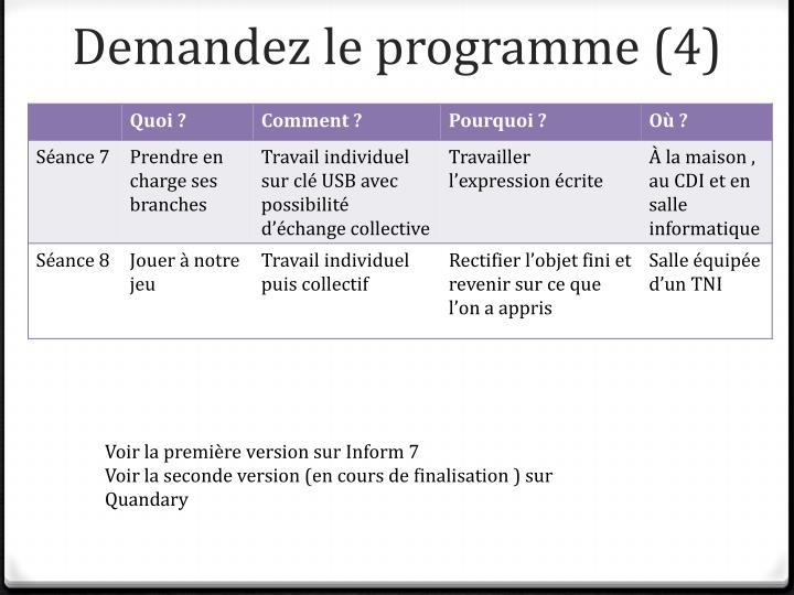 Demandez le programme (4)