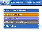 create and use a collaborative website