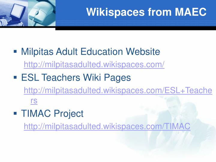 Wikispaces from MAEC