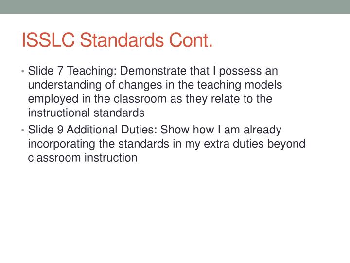 ISSLC Standards Cont.