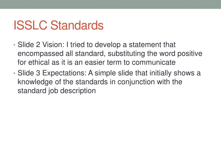 ISSLC Standards
