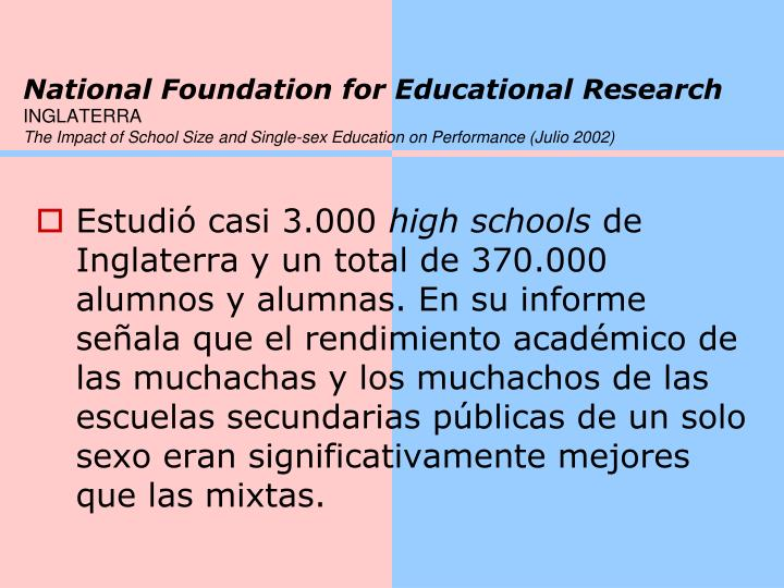 National Foundation for Educational Research